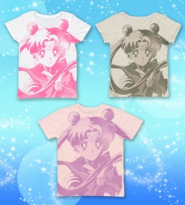 Sailor Moon Face Design Ladies T-Shirt