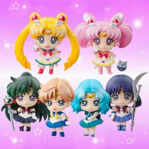 Puchi-Chara! Sailor Moon Outer Senshi Figure Set of 6