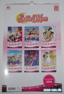 Sailor Moon - Wandkalender 2014 Rückseite