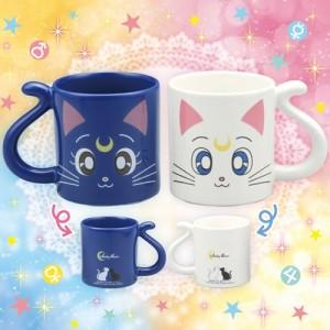 Sailor Moon Luna & Artemis Pair Mug Cup Set