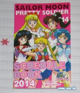 Sailor Moon Pretty Soldier Schedule Book 2014