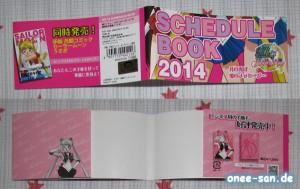 Sailor Moon Pretty Soldier Schedule Book 2014 Obi